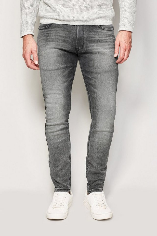 Next Super-Skinny-Fit Dark Grey Stretch-Jeans in Dunkelgrau Super-Skinny