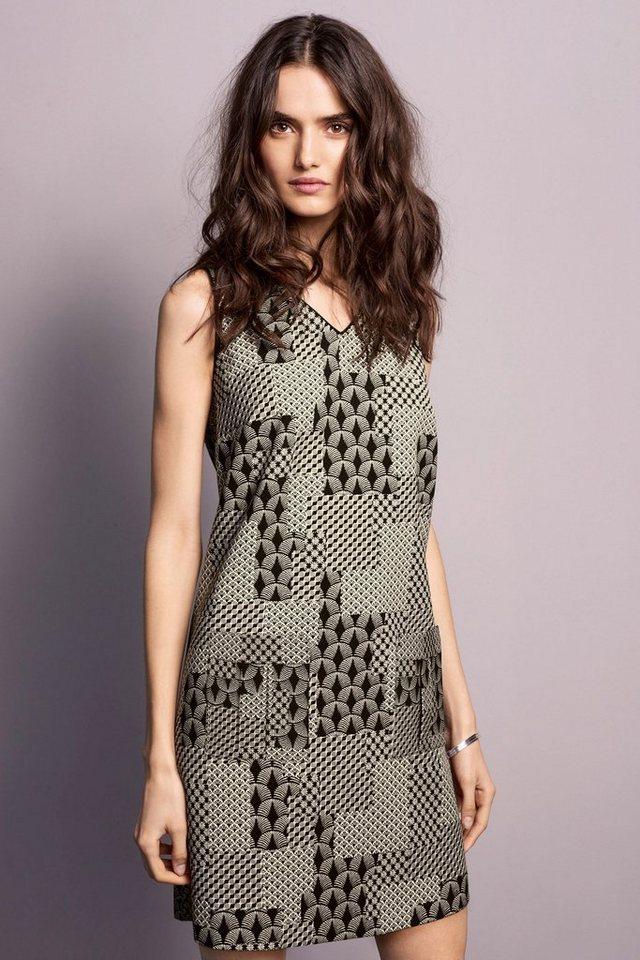Next Kleid mit Jacquardmuster in Schwarz