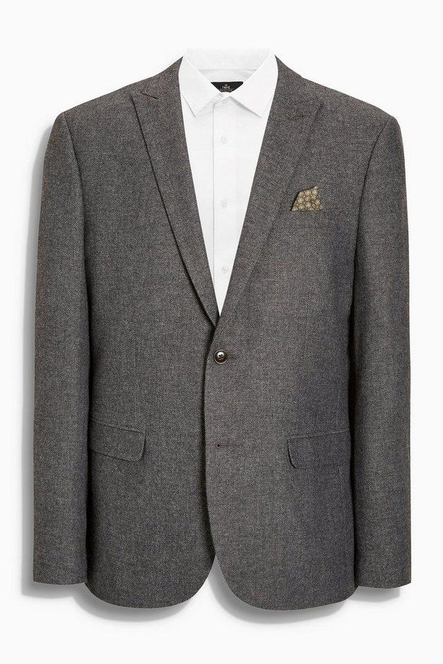 Next Blazer aus gebrochenem Twill in Grey Tailored-Fit