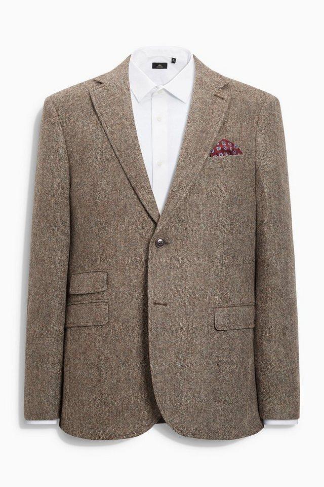 Next Tailored-Fit Donegal-Sakko in Braun