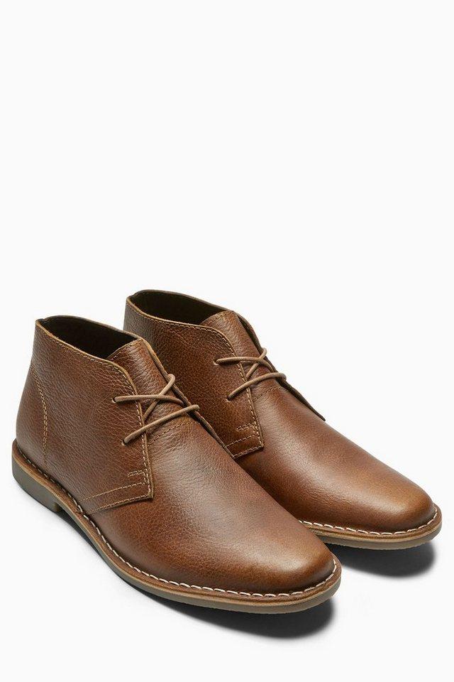 Next Stiefel aus Leder in Hellbraun