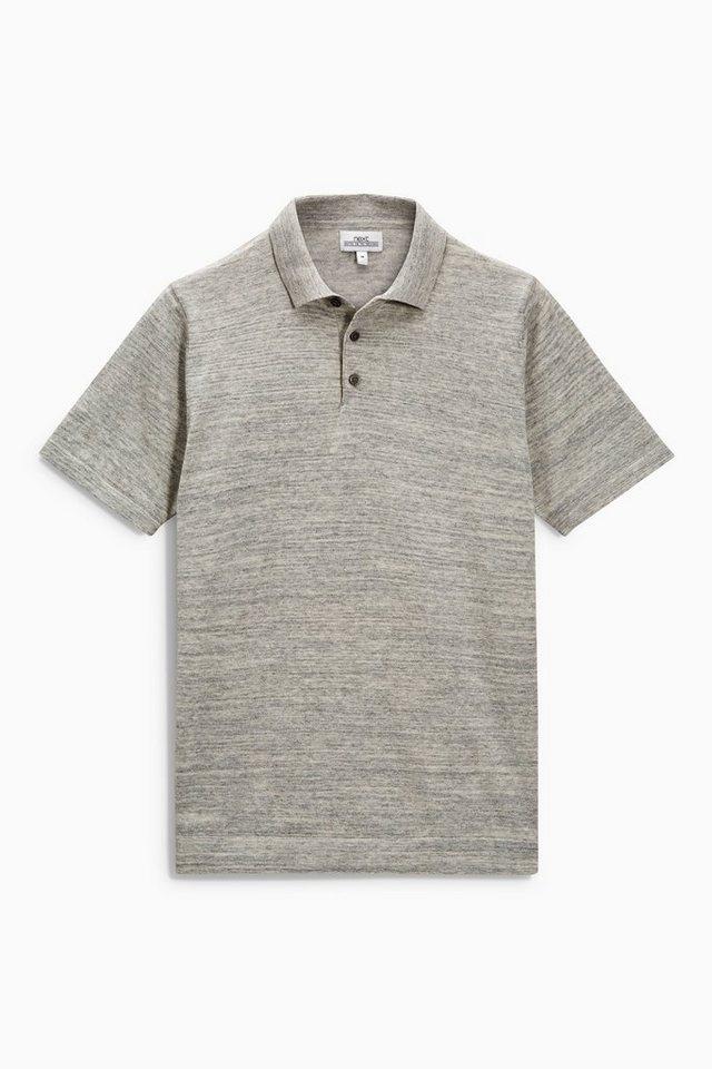 Next Poloshirt mit kurzen Ärmeln in Grau