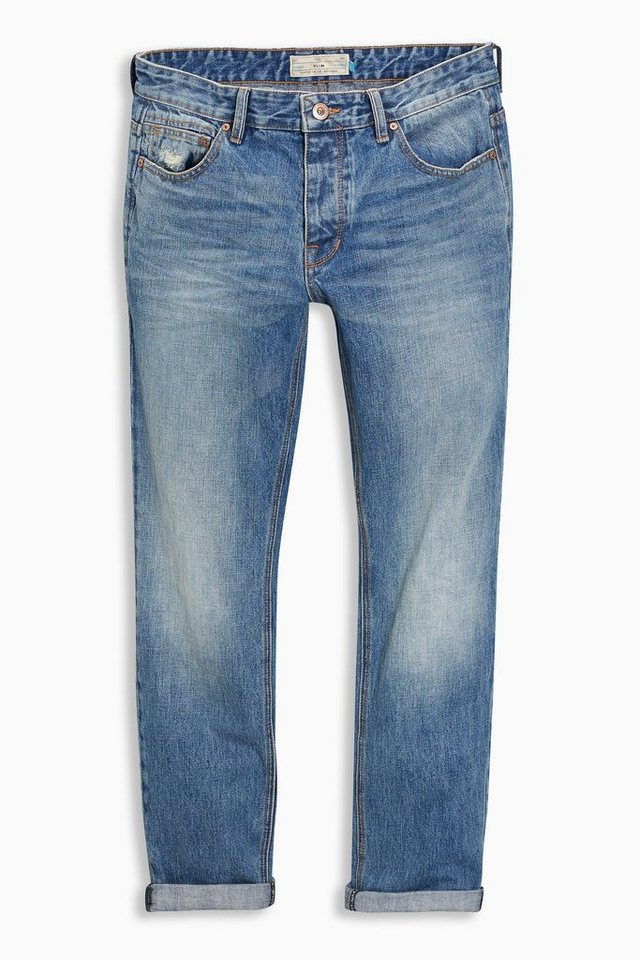 Next Tapered-Fit Light Wash Jeans in Blau Tapered-Fit