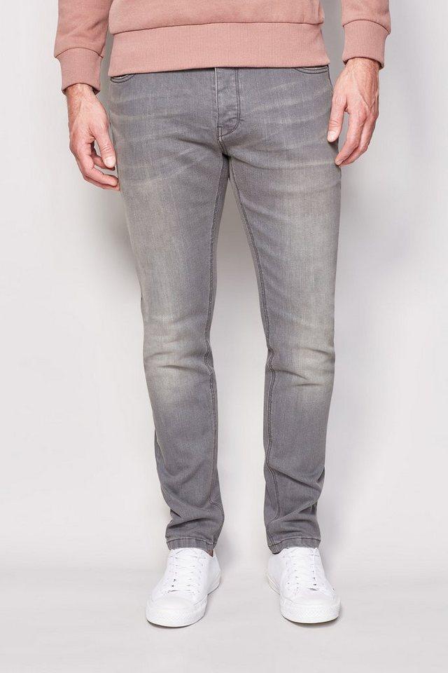 Next Skinny-Fit Mid Grey Stretch-Jeans in Grau Skinny-Fit