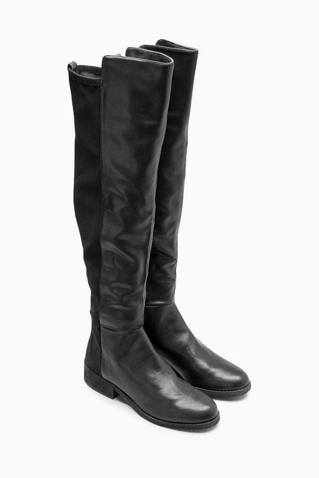 Next Overknee-Stiefel in Schwarz