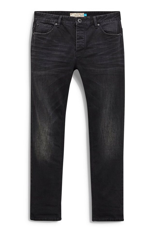 Next Slim-Fit Washed Black Stretch-Jeans in Schwarz Slim-Fit