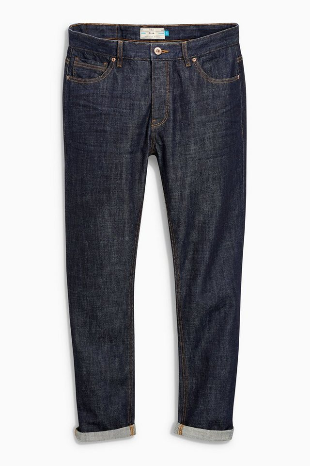 Next Tapered-Fit Raw Denim Jeans in Blau Tapered-Fit