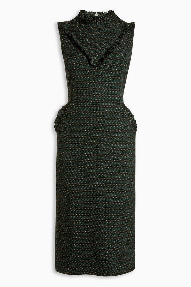 Next Jacquard-Kleid in Grün