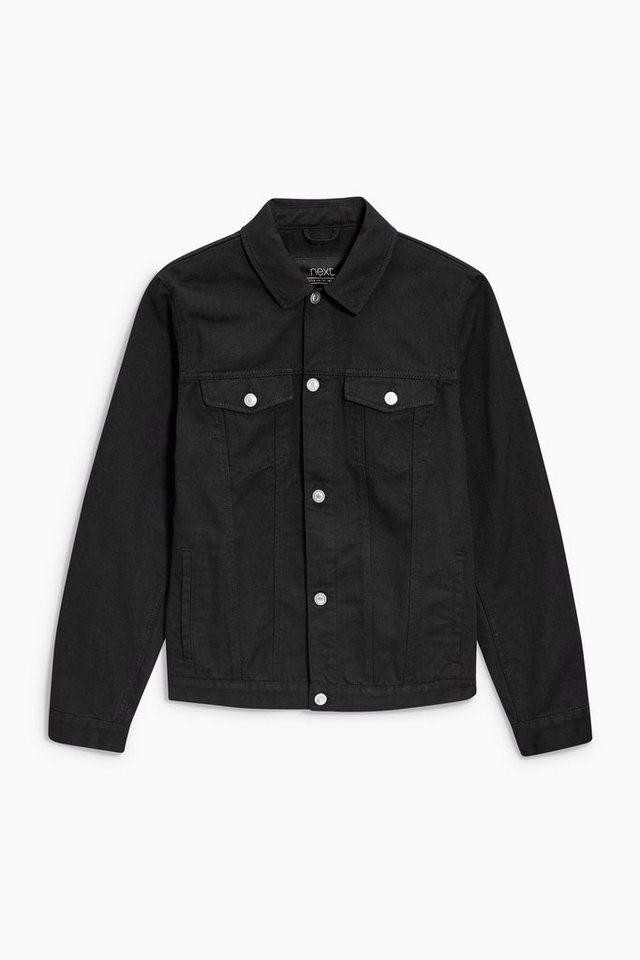 Next Denim-Jacke im Western-Stil in Schwarz