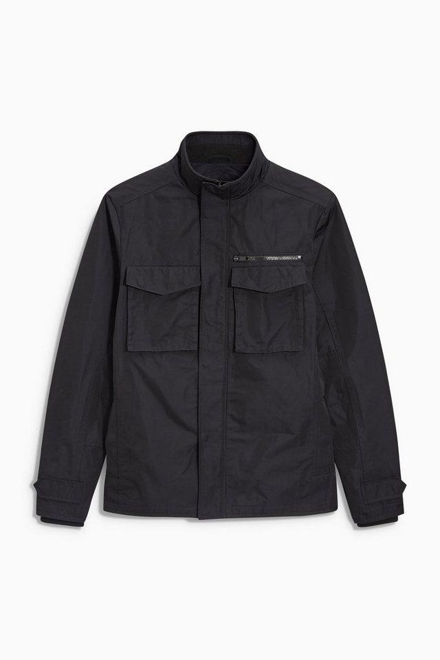 Next Jacke mit weitem Stehkragen in Schwarz