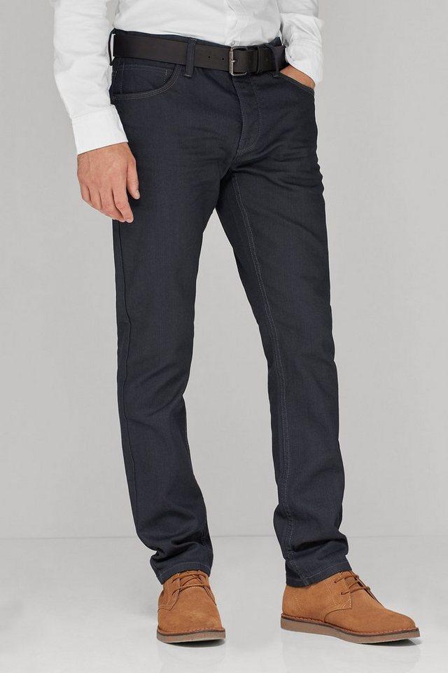 Next Beschichtete Stretch-Jeans aus Raw Denim mit Gürtel 2 teilig in Blue Straght-Fit