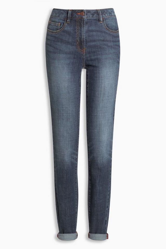 Next Lässige Skinny-Jeans in Dunkelblau