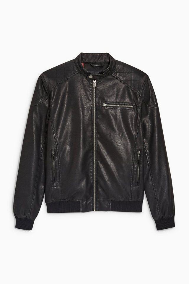 Next Jacke im Biker-Look in Schwarz