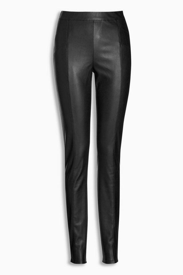Next Leggings in Lederoptik in Black