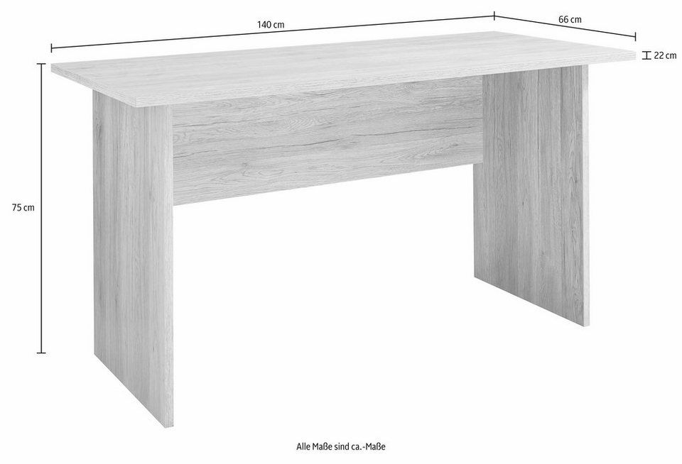 rauch Schreibtisch in weiß