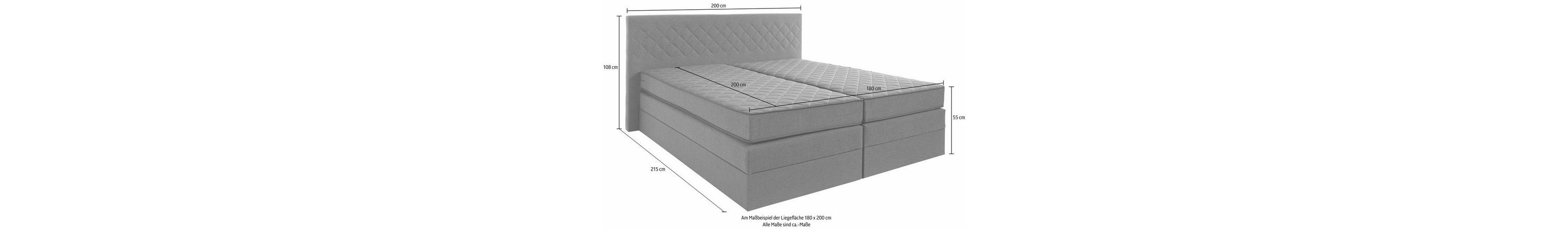 Boxspringbett ohne Kopfteile mehr Platz