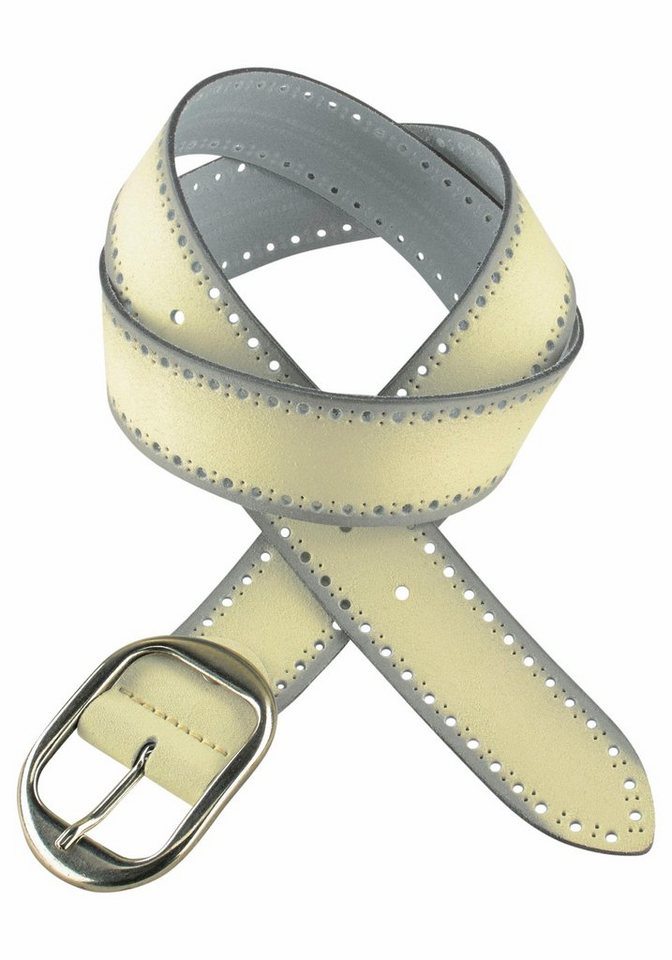 J. Jayz Ledergürtel mit dekorativer Schließe in gelb
