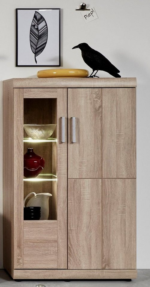 vitrine fora h he 130 cm online kaufen otto. Black Bedroom Furniture Sets. Home Design Ideas