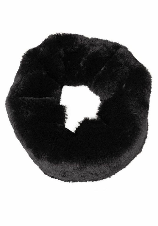 J. Jayz Loop Fake Fur in schwarz
