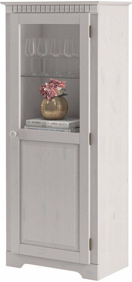 Vitrine, Home affaire, »Caroline«, Höhe 140 cm in weiß