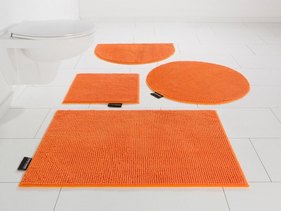 Badematte, Bruno Banani, »Maja«, Höhe 15 mm in orange