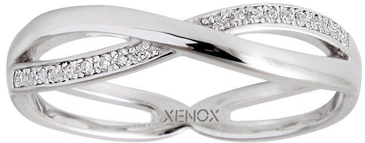 XENOX Ring mit Zirkonia, »Symbolic Power, XS2914« in silber 925