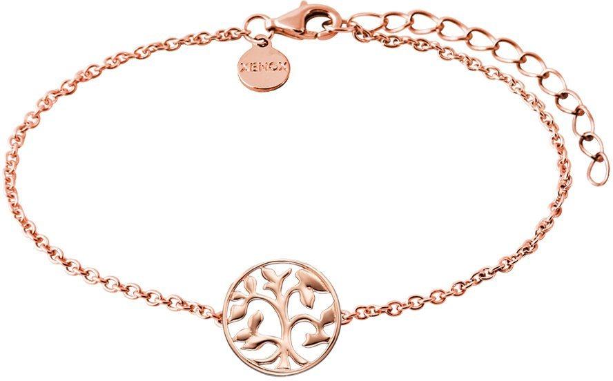 XENOX Armband, »Baum, Symbolic Power, XS2897R« in silber 925-roségoldfarben vergoldet