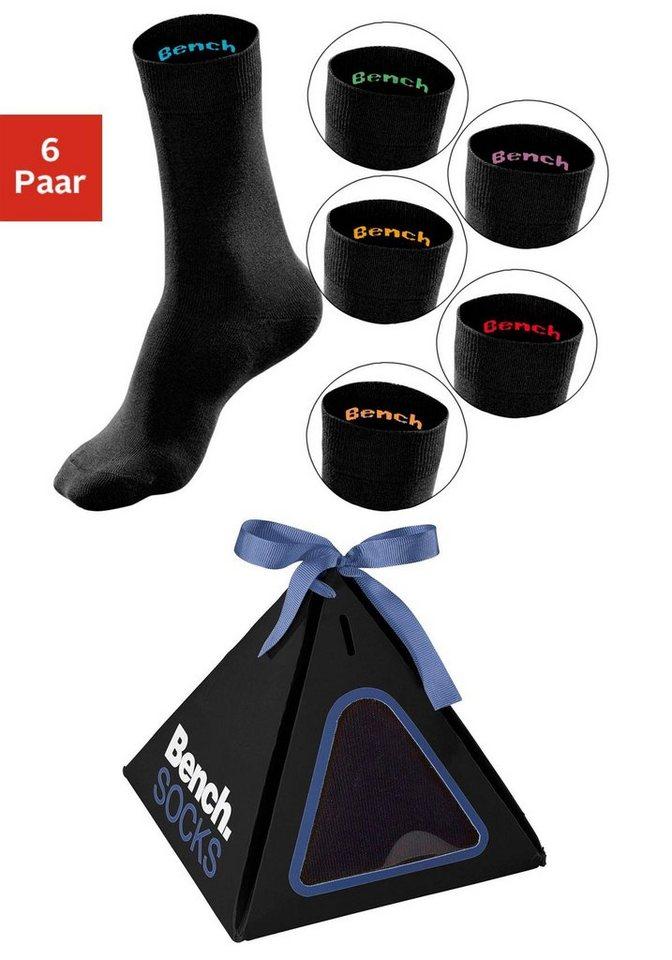 Bench Socken (6 Paar) in 6x schwarz