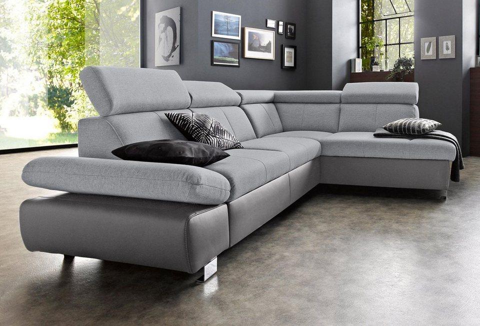 exxpo sofa fashion polsterecke mit ottomane und wahlweise mit bettfunktion online kaufen otto. Black Bedroom Furniture Sets. Home Design Ideas