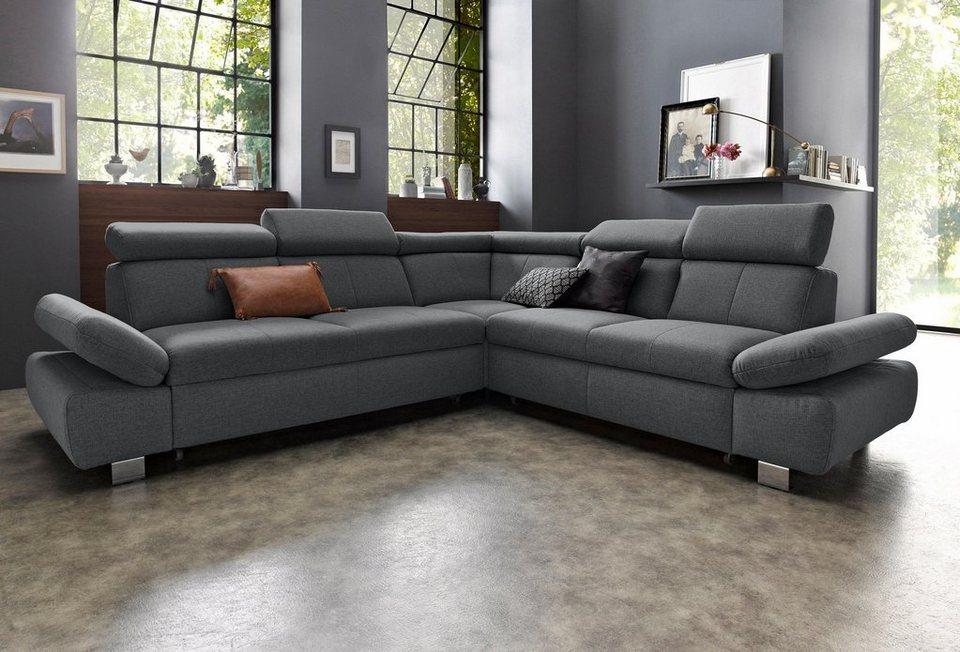 Exxpo Sofa Fashion Polsterecke Mit Langem Schenkel Und Wahlweise