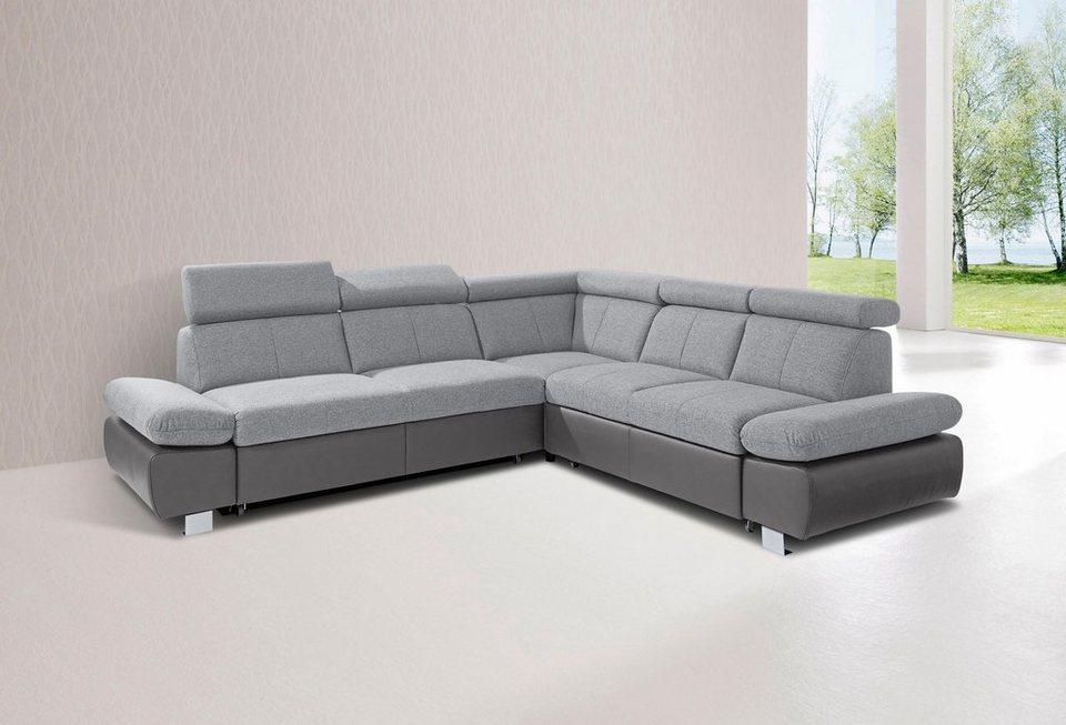 gala collezione polsterecke mit langem schenkel und wahlweise mit bettfunktion online kaufen otto. Black Bedroom Furniture Sets. Home Design Ideas