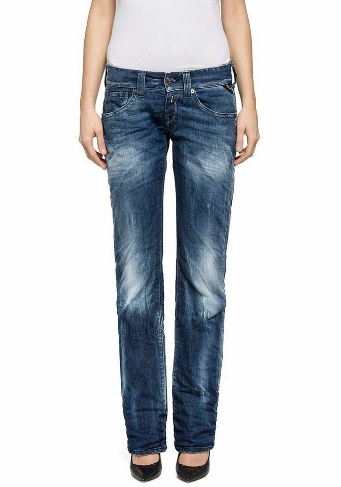 Replay Straight-Jeans mit Stretch in blue-denim