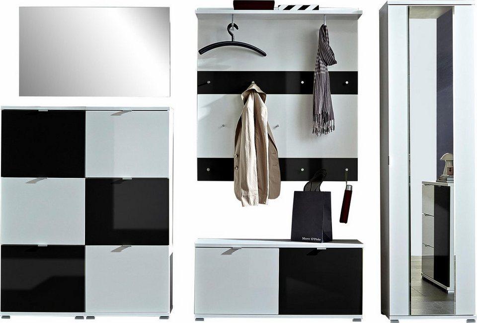 garderoben set schwarz latest garderoben set tinto weiss schwarz tlg garderoben und flurmbel. Black Bedroom Furniture Sets. Home Design Ideas