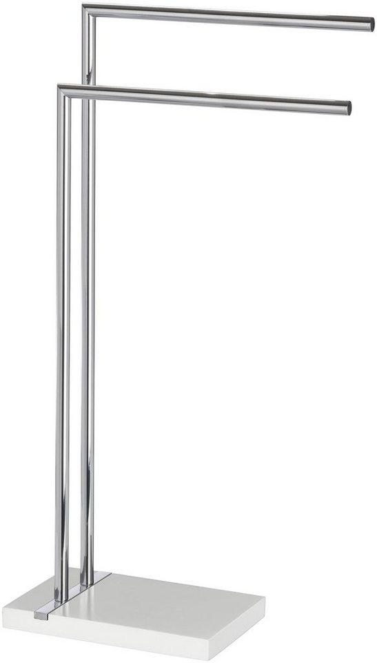 Handtuchständer »Noble White« in weiß/chrom