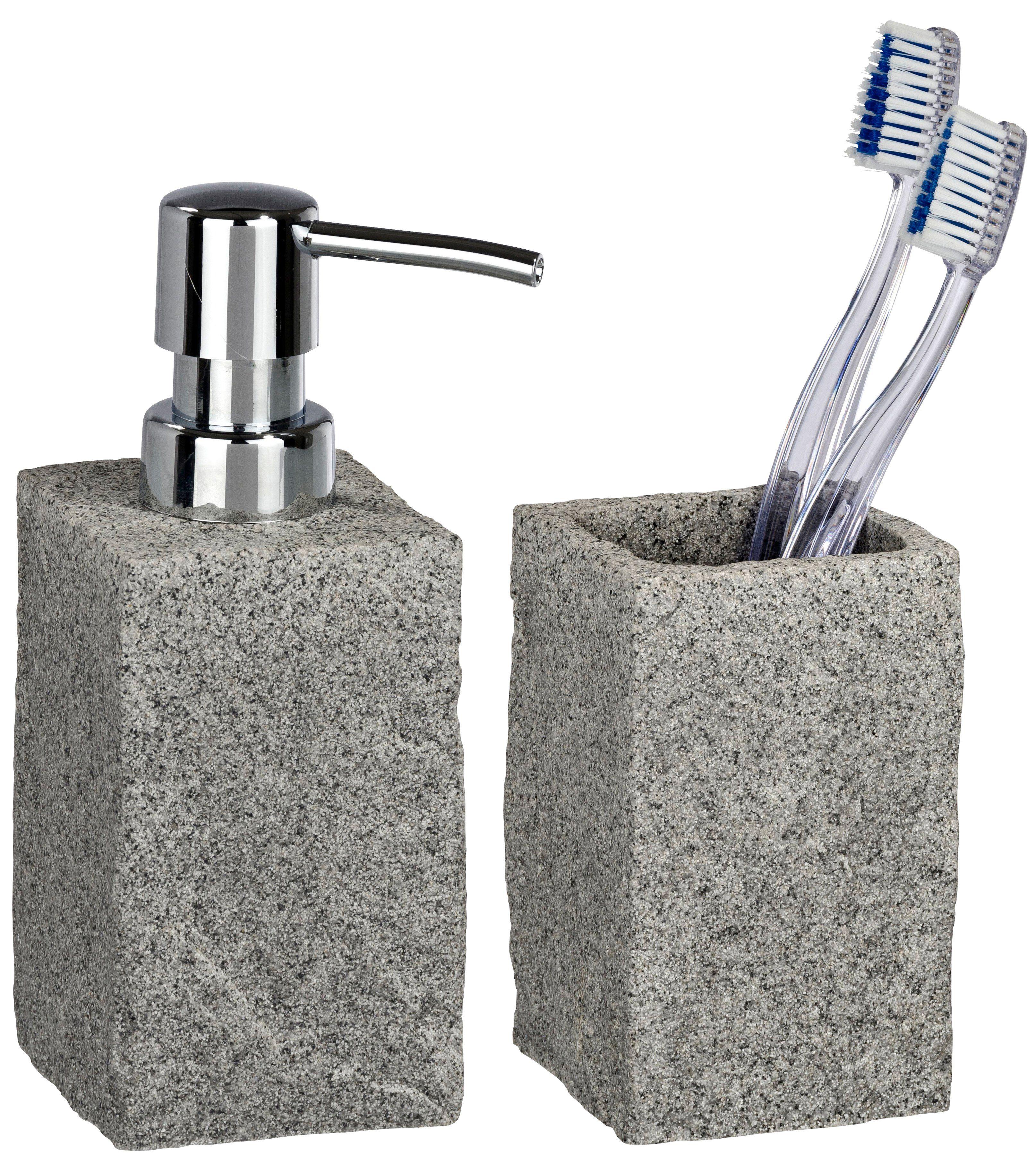 Bad-Accessoire-Set »Granit«, 2-teilig