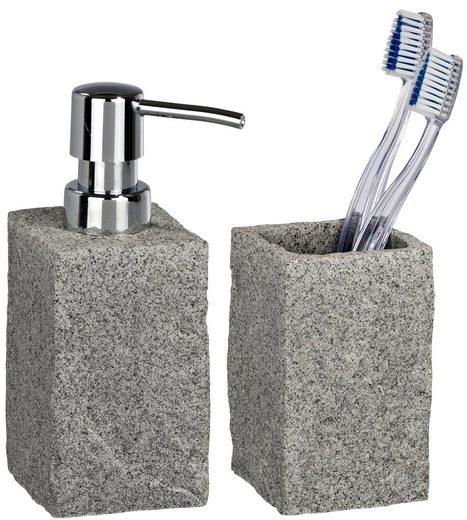 bad accessoire set granit 2 teilig kaufen otto. Black Bedroom Furniture Sets. Home Design Ideas