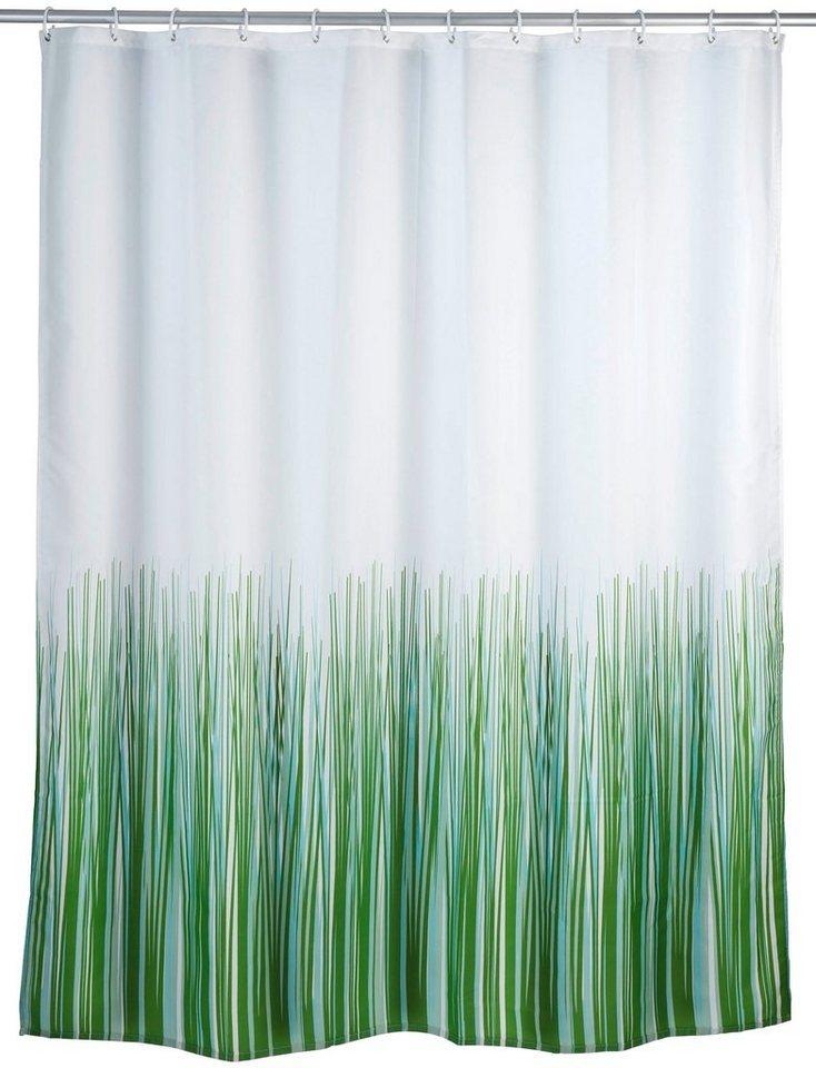 Duschvorhang »Nature« in weiß/grün