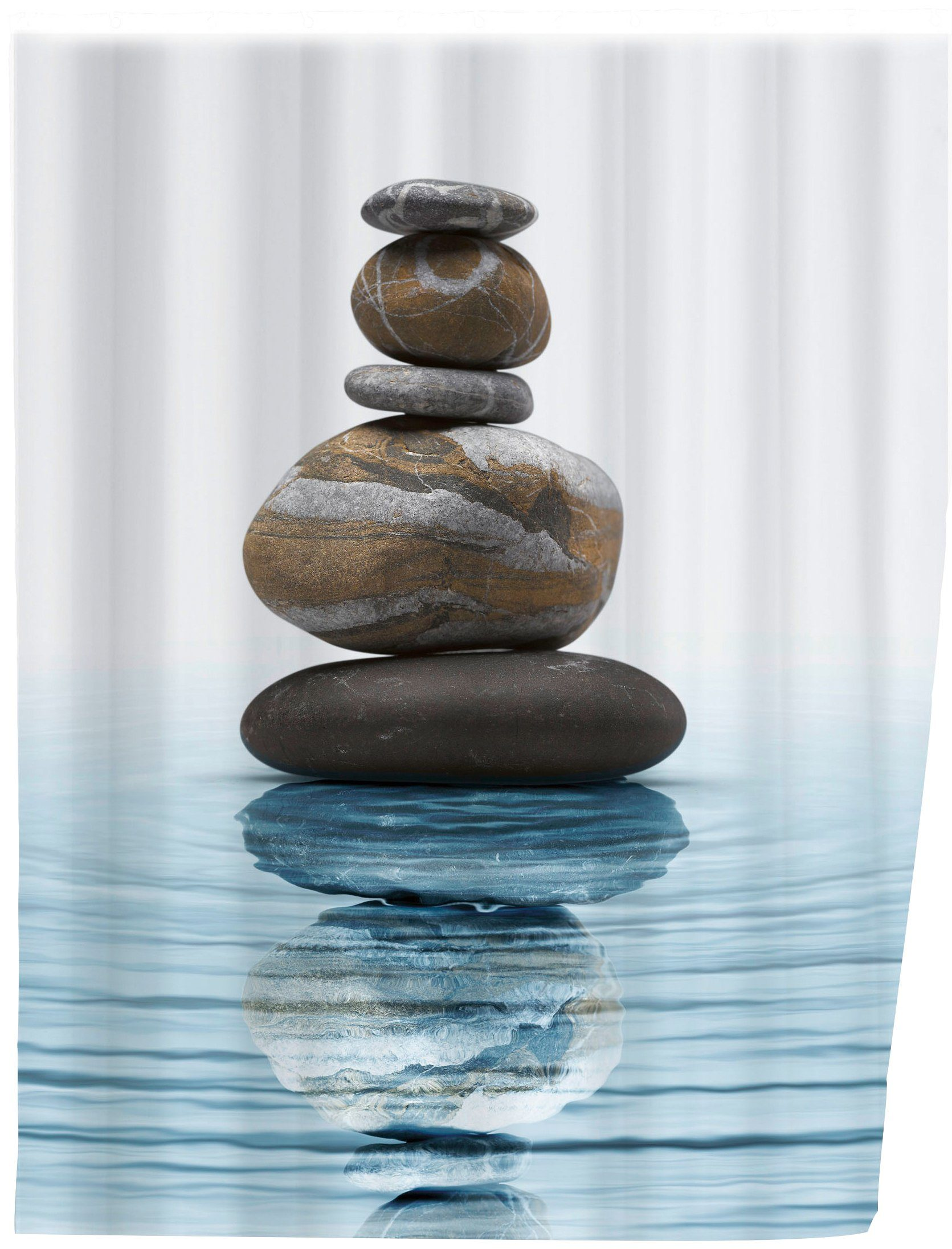 WENKO Duschvorhang »Meditation«, Breite 180 cm