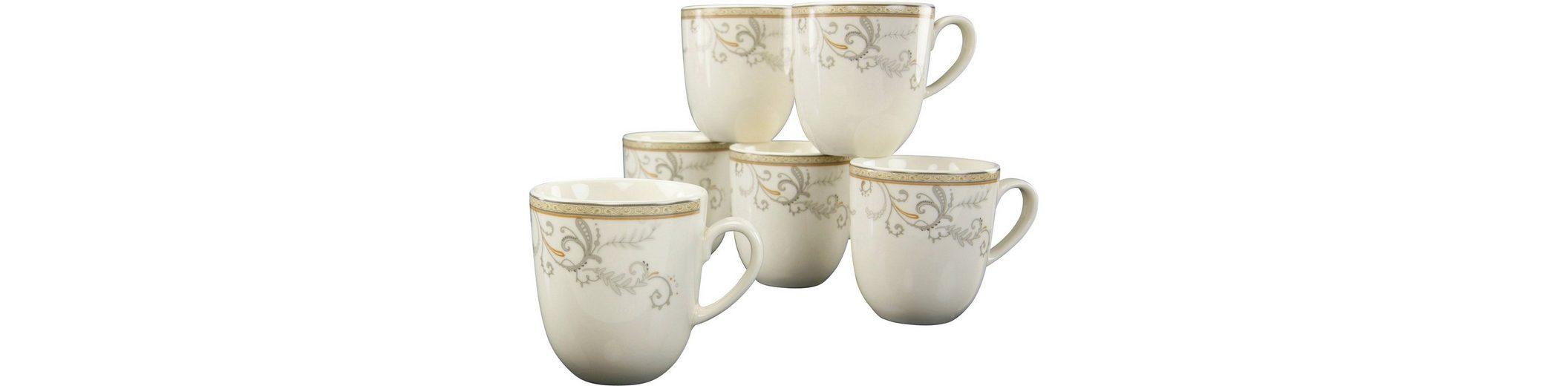CreaTable 6 Kaffeebecher, Premium-Porzellan, »Villa Medici«