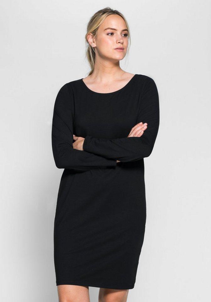 sheego Casual BASIC Kleid in schwarz