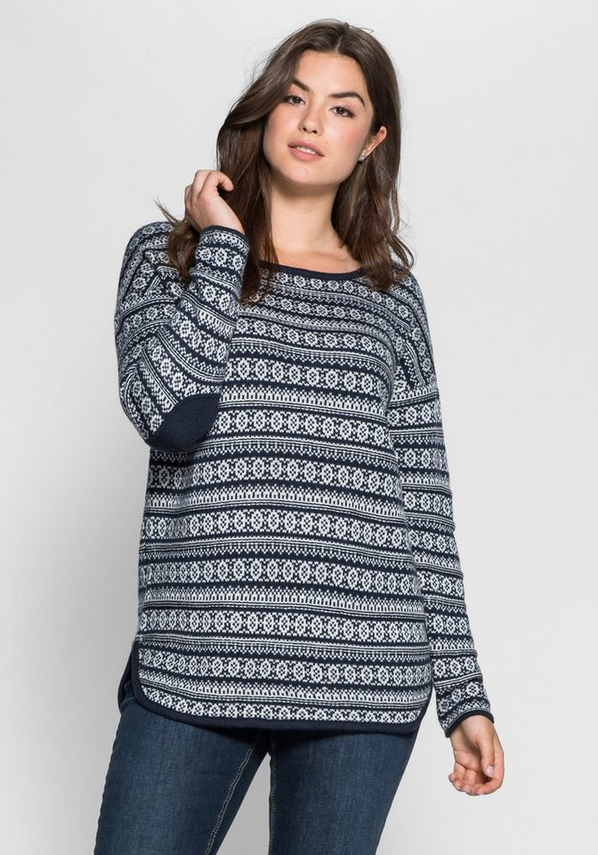 sheego Casual Pullover in marine
