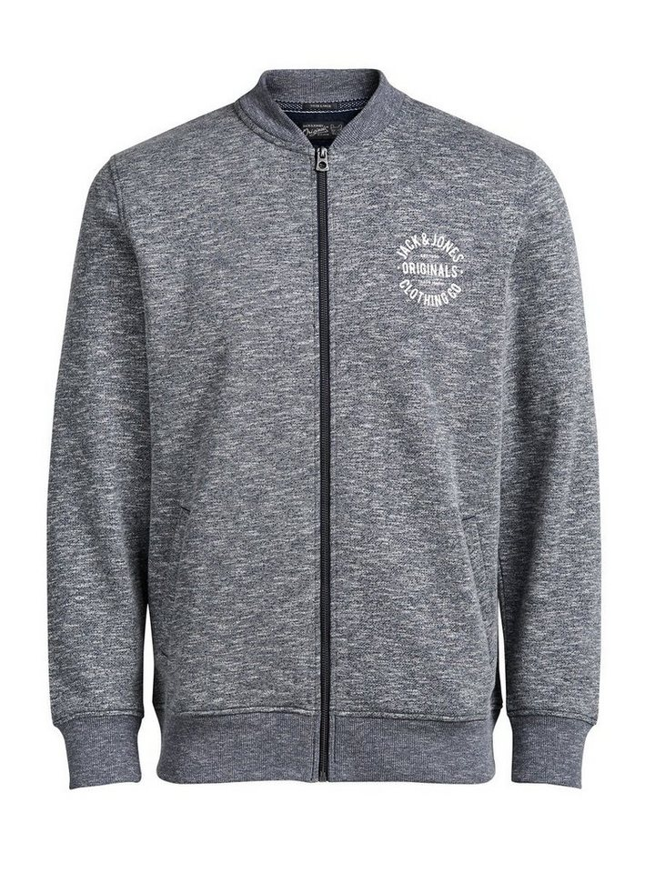 Jack & Jones Blouson- Sweatshirt mit Reißverschluss in Navy Blazer