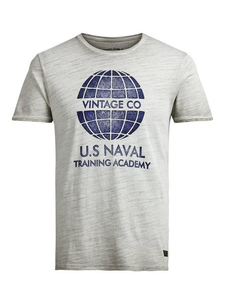 Jack & Jones Bedrucktes T-Shirt in Fog