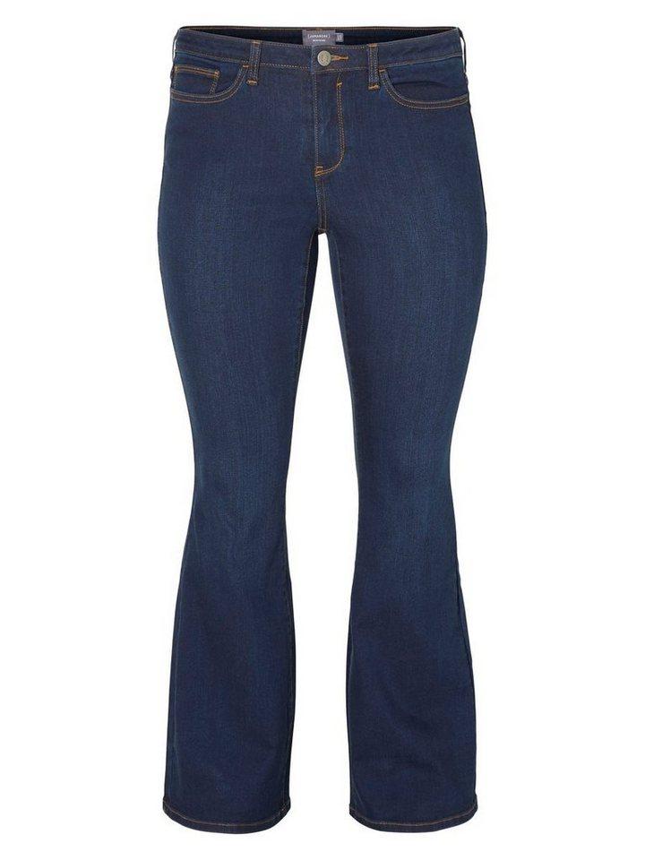 JUNAROSE JRTWIG Bootcut Jeans in Dark Blue Denim