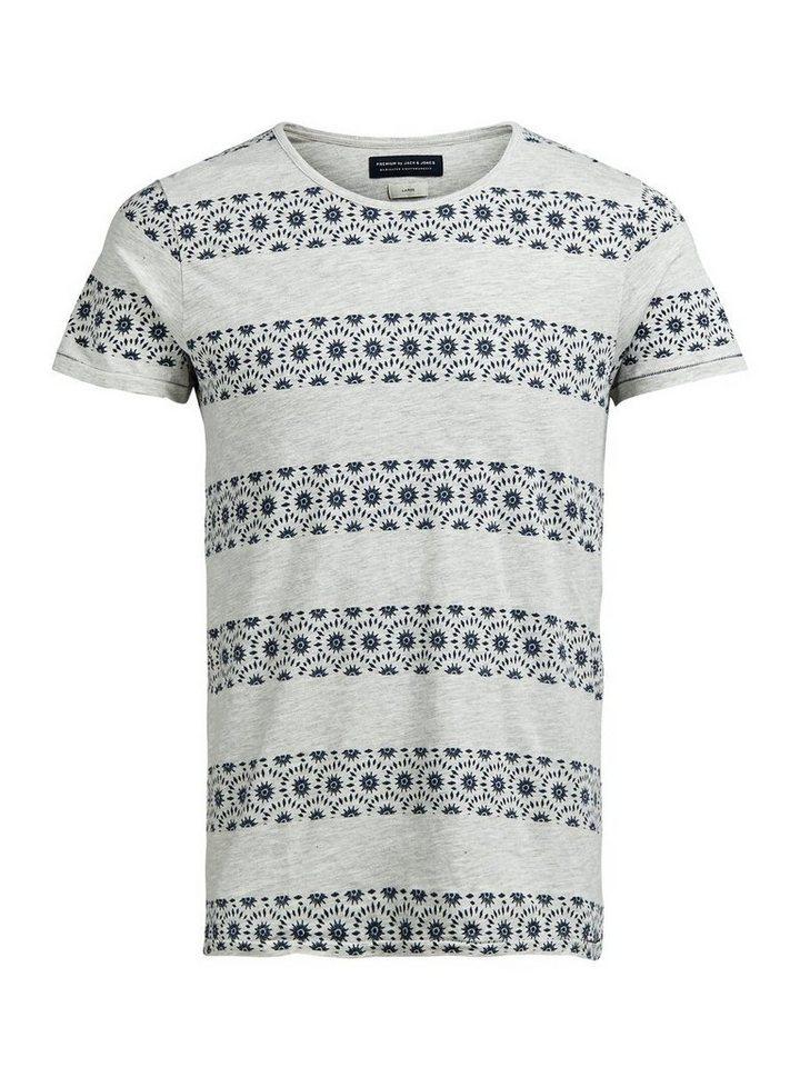 Jack & Jones Gestreiftes T-Shirt in Whisper White