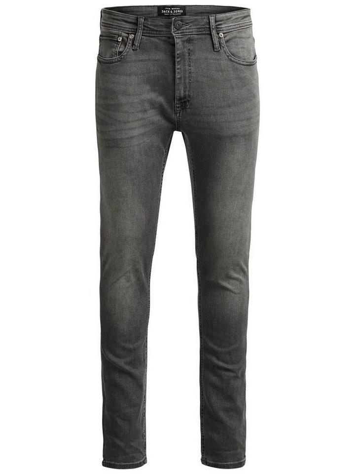 Jack & Jones Liam Original AM 010 Skinny Fit Jeans in Grey Denim