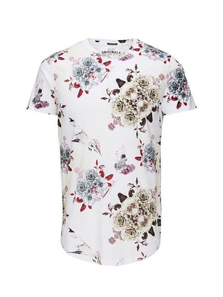 Jack & Jones Individuelles Blumen- T-Shirt in White