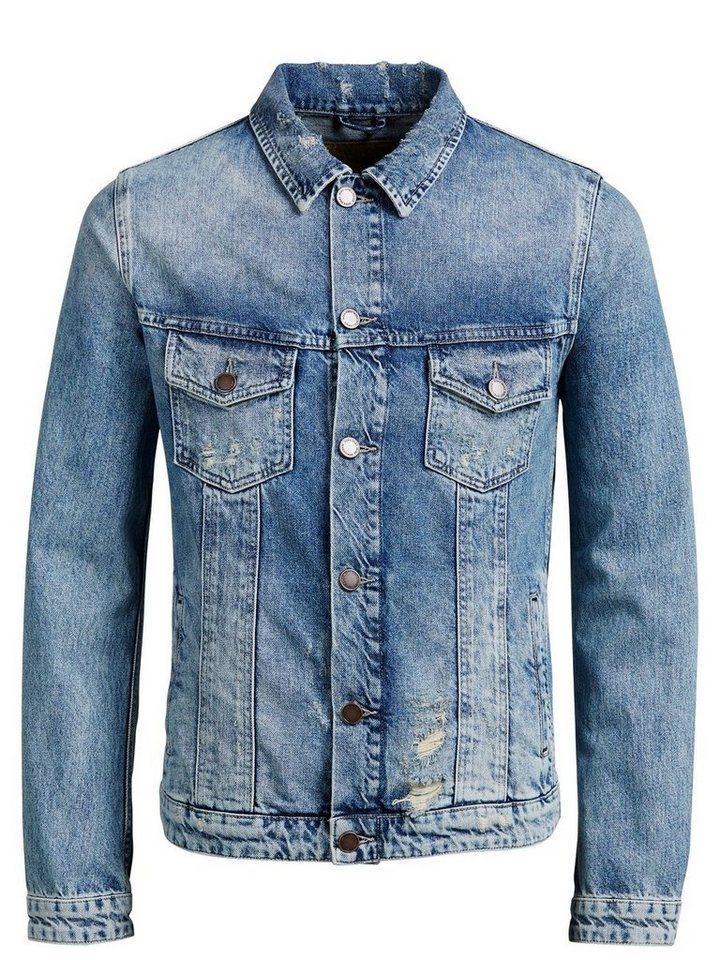 Jack & Jones Klassische Jeansjacke in Blue Denim
