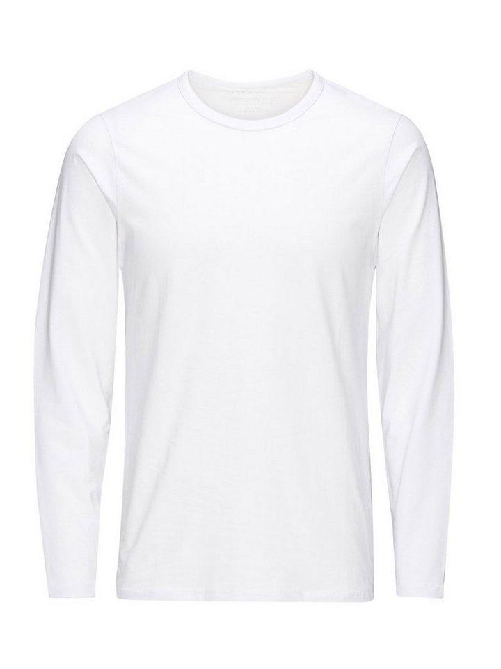 Jack & Jones Basic, mit langen Ärmeln T-Shirt in OPT WHITE