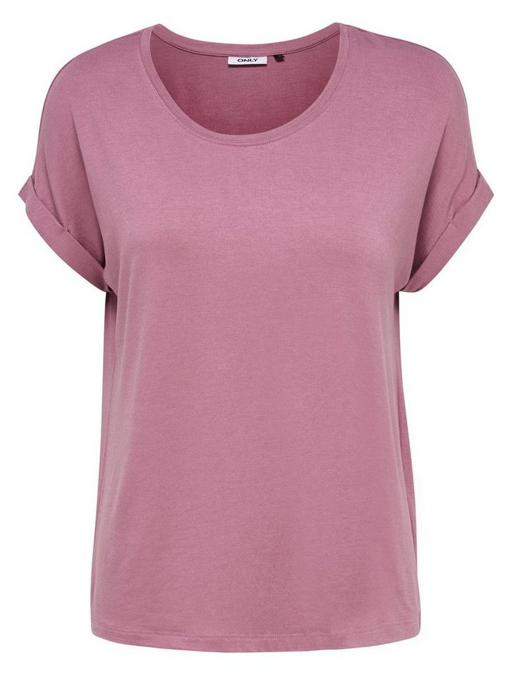 Only Lässiges T-Shirt in Mesa Rose